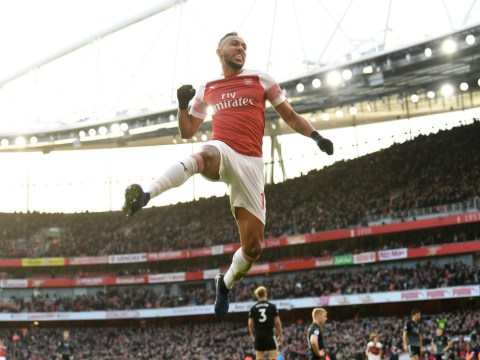 Pierre-Emerick Aubameyang and Mesut Ozil combine to get Arsenal back to winning ways