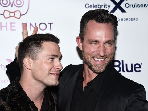 Colton Haynes' divorce back on after posting romantic tribute to husband Jeff Leatham on wedding anniversary