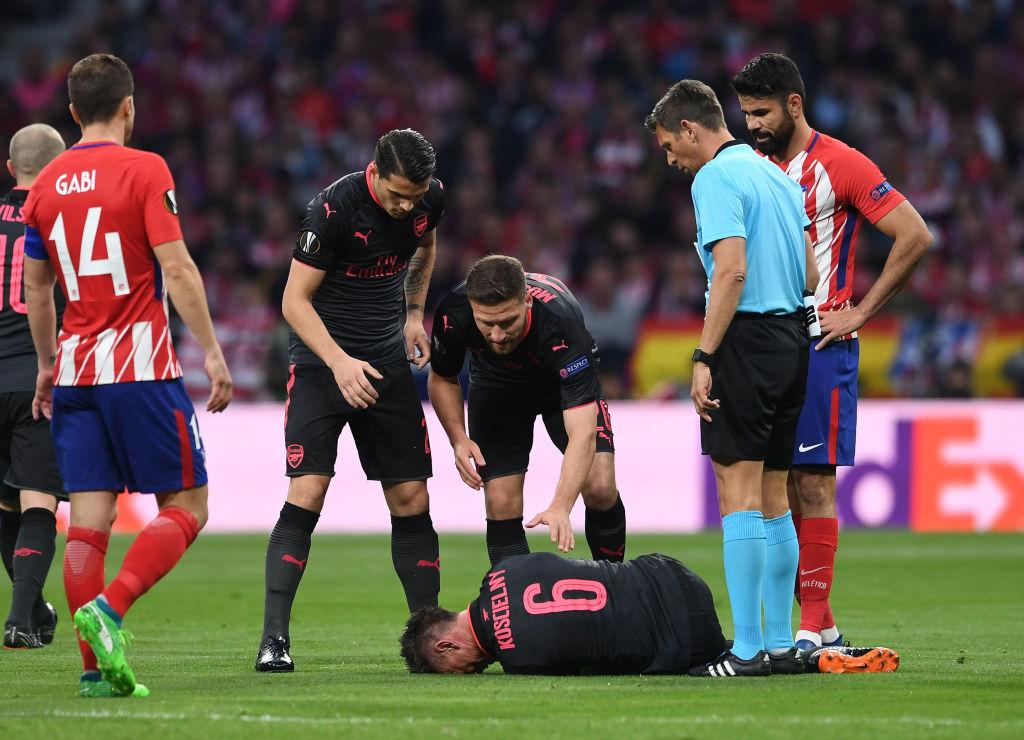 Diego Costa told Arsenal medical team he heard Laurent Koscielny's Achilles 'snap'