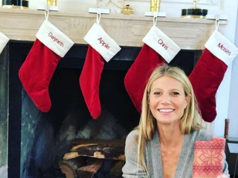 Gwyneth Paltrow hangs Christmas stocking for Chris Martin and proves they're the friendliest exes in history