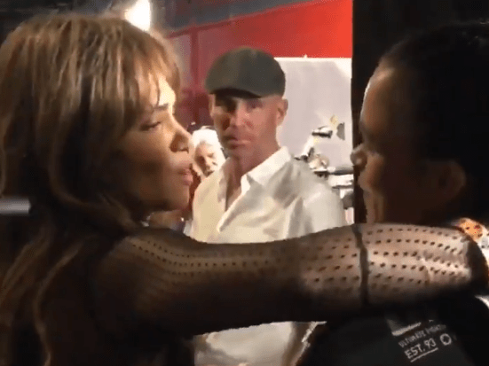 Halle Berry seeks out Amanda Nunes backstage at UFC 232 after historic win
