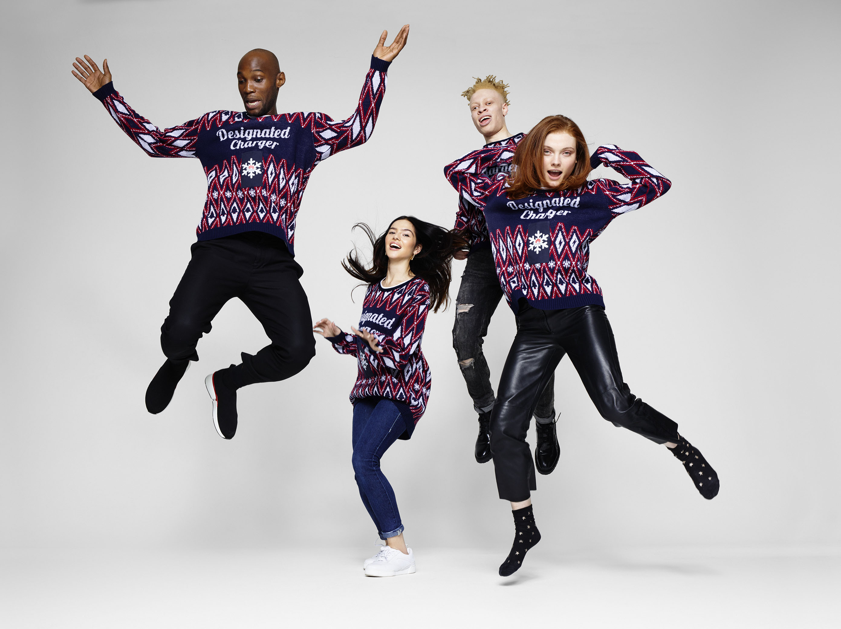 Huawei launches 'world's first' phone-charging Christmas jumper