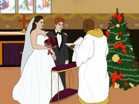 What it's like to get married on Christmas day