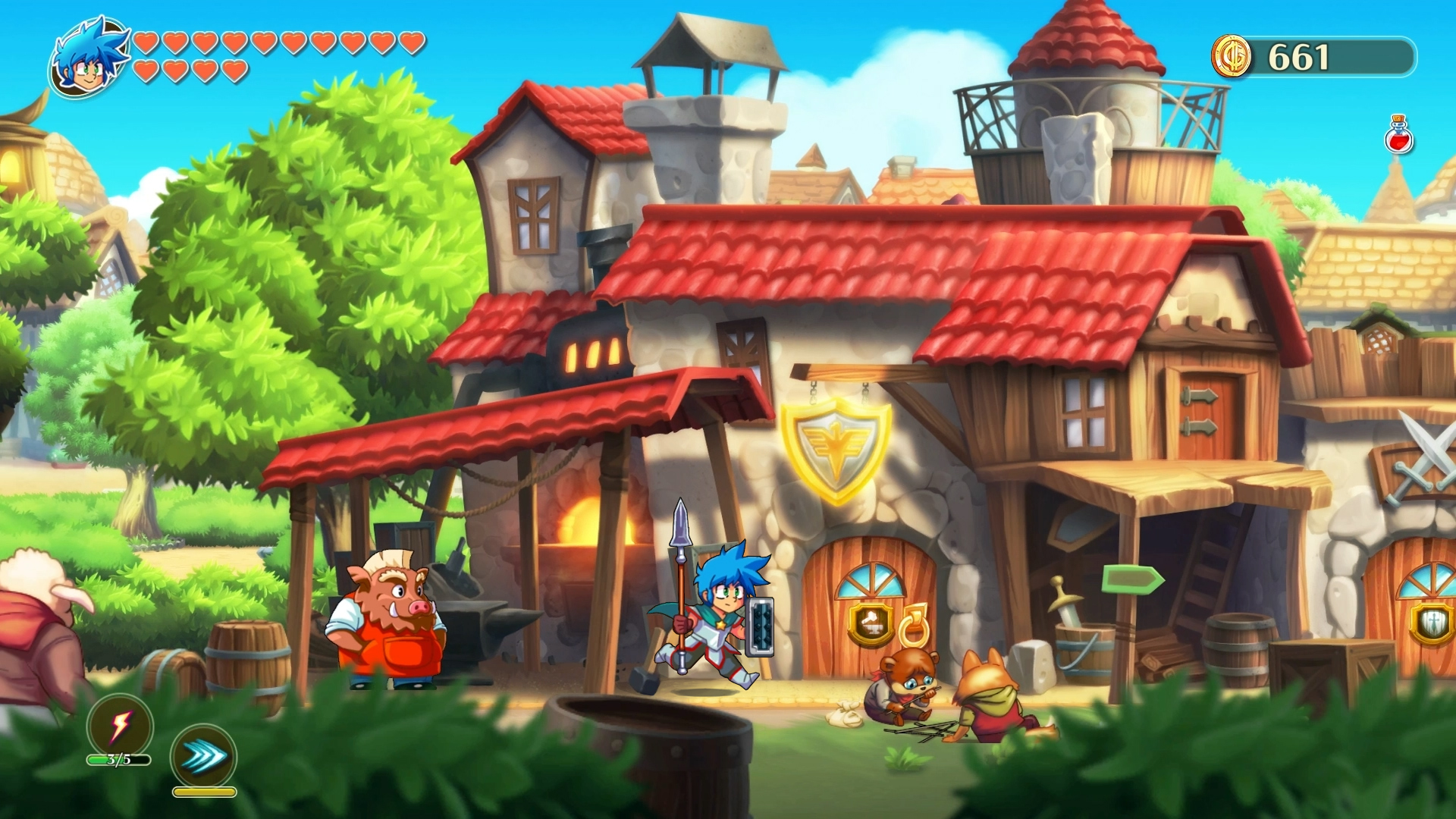 Monster Boy And The Cursed Kingdom (PS4) - Wonder Boy is back in all but name