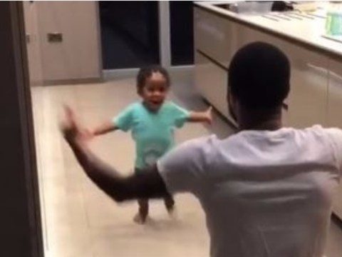 Raheem Sterling's one-year-old son shows his incredible football skills