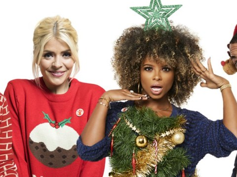 From Holly Willoughby to James Blunt and Dani Dyer, celebrities take part in Christmas jumper challenge for Save the Children