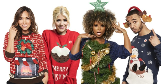 59a51331270 From Holly Willoughby to Dani Dyer, celebs take part in Christmas ...