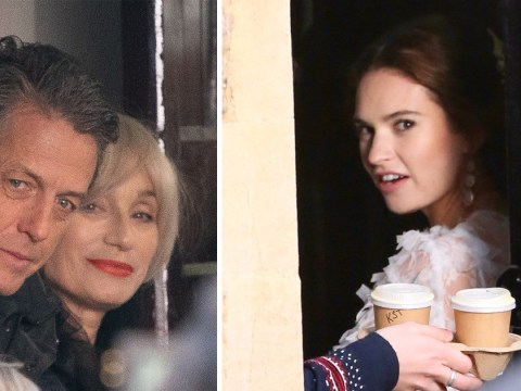 Lily James plays Hugh Grant's daughter as she walks down the aisle for Four Weddings sequel
