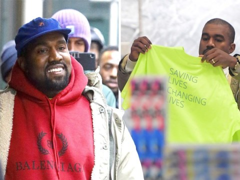 Kanye West can't wipe smile from his face as he puts Drake spat to back of his mind for some retail therapy