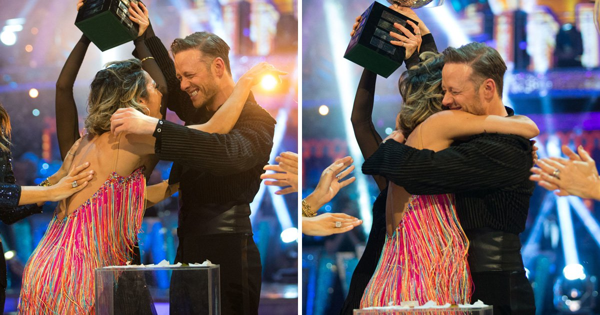 Strictly's Kevin Clifton given emotional hug by ex Karen as he's crowned champion