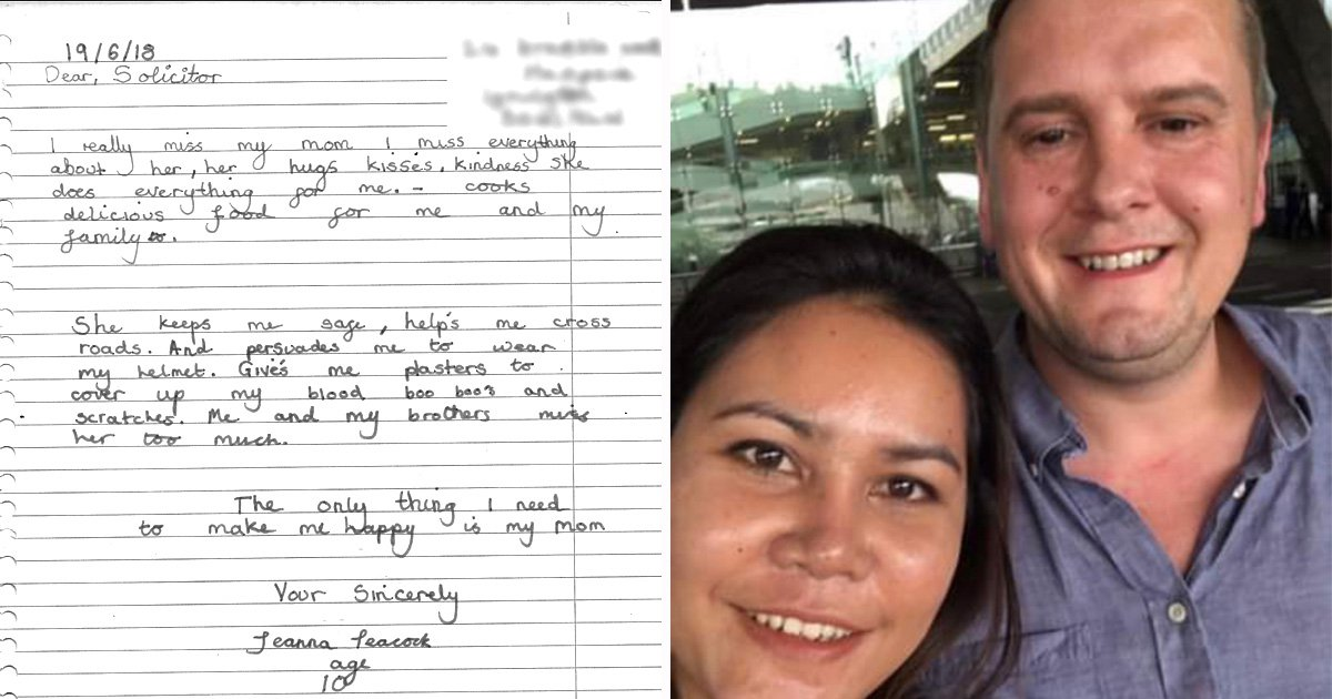 Daughter's heartbreaking letter after mum is blocked from returning to UK