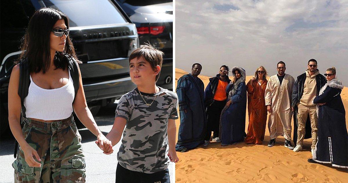 Kourtney Kardashian throws Mason epic Fortnite-themed birthday party while ex Scott Disick holidays in Saudia Arabia with Sofia Richie
