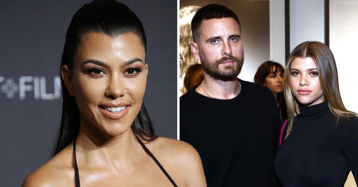 Kourtney Kardashian knows how she'd react to Scott Disick proposing to Sofia Richie