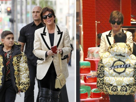 Kris Jenner treats grandson Mason to £2,000 Versace coat as they Christmas shop in Beverly Hills