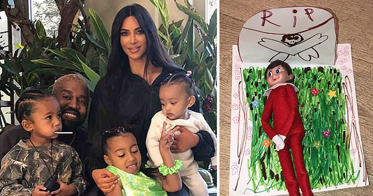 Kim Kardashian's kids killed their Elf On The Shelf, but at least they gave him a grave