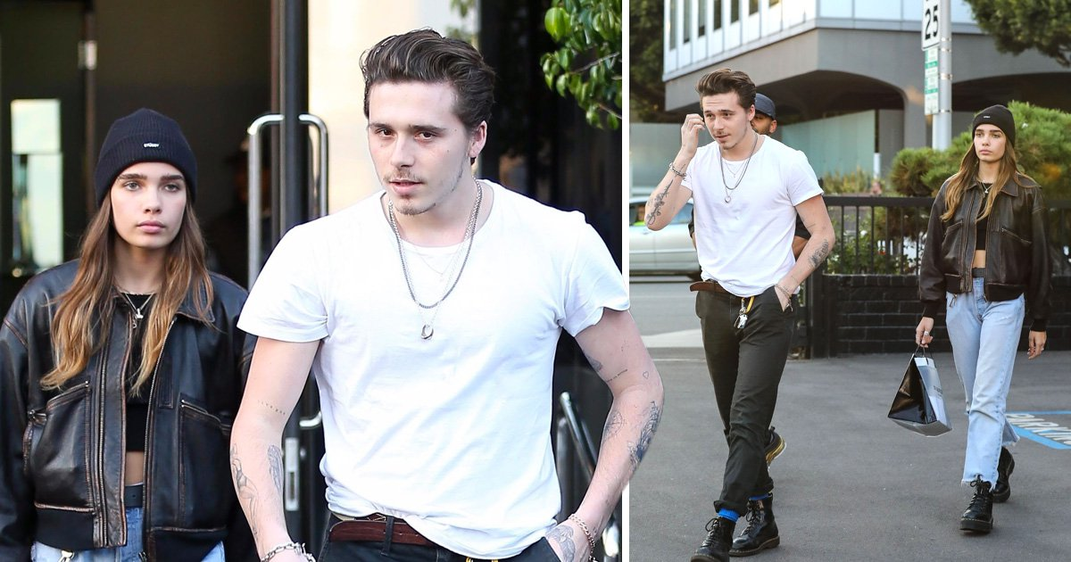 Brooklyn Beckham knows diamonds are a girl's best friend as he treats girlfriend Hana Cross to jewels for Christmas