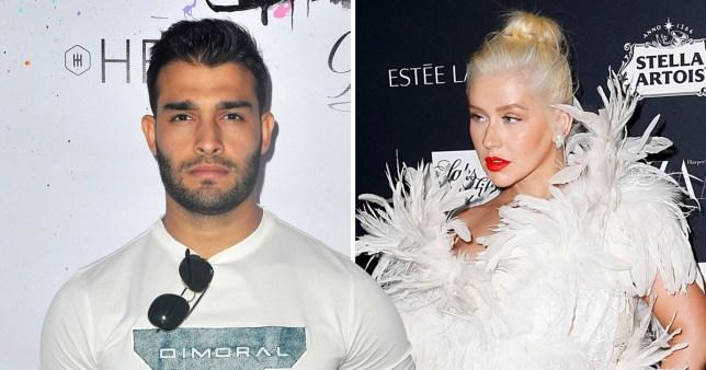 Sam Asghari shades Christina Aguilera
