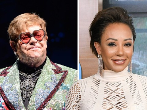 Mel B says she peed in a plant pot outside Elton John's hotel room because why not?