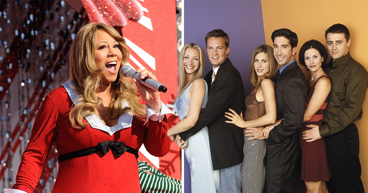 Friends cast singing Mariah Carey is all you could ever want for Christmas and we are there for it