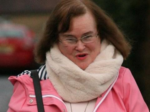 Susan Boyle back in rainy UK after landing Mel B's golden buzzer on America's Got Talent: The Champions