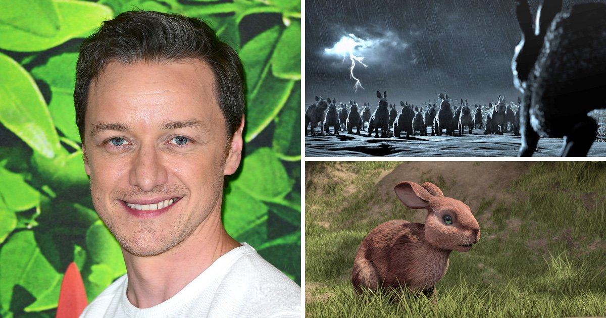 James McAvoy almost passed out making rabbit noises for Watership Down