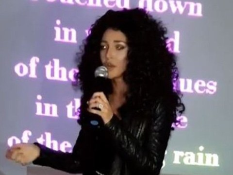 Michelle Keegan dresses up as Cher and blasts out Walking On Memphis during karaoke night