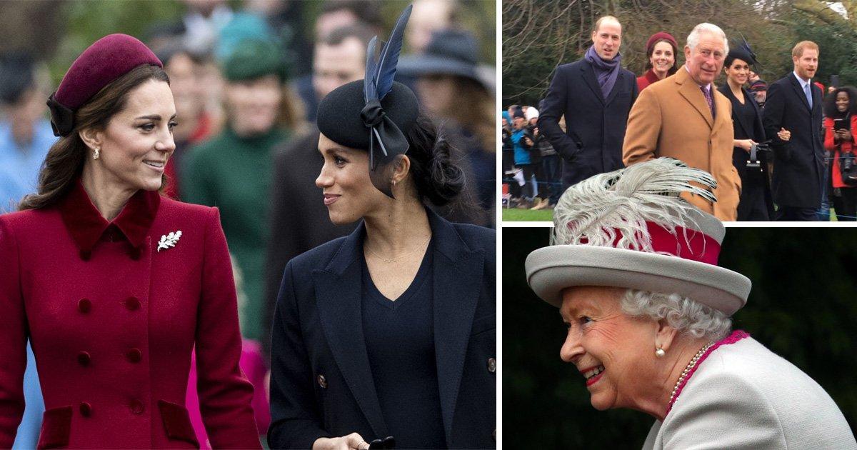 Kate and Meghan arrive together for Christmas service at Sandringham despite rift rumours