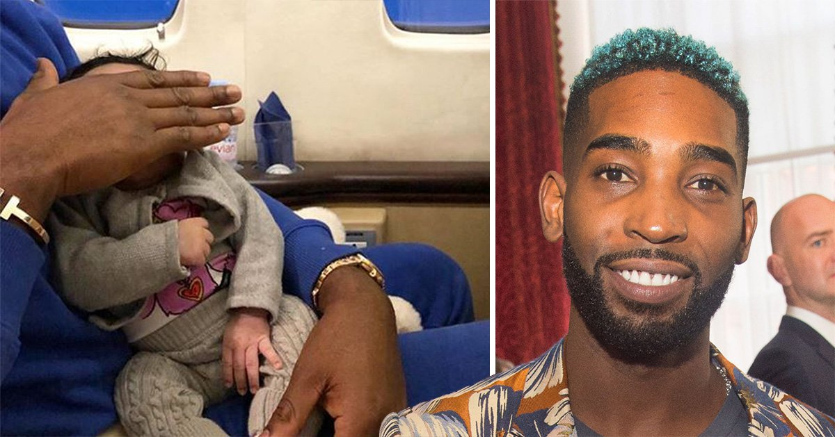 Tinie Tempah with his baby daughter