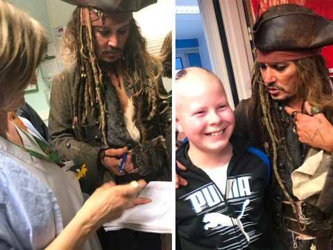 Johnny Depp reprises Jack Sparrow character to surprise young cancer patient for Christmas