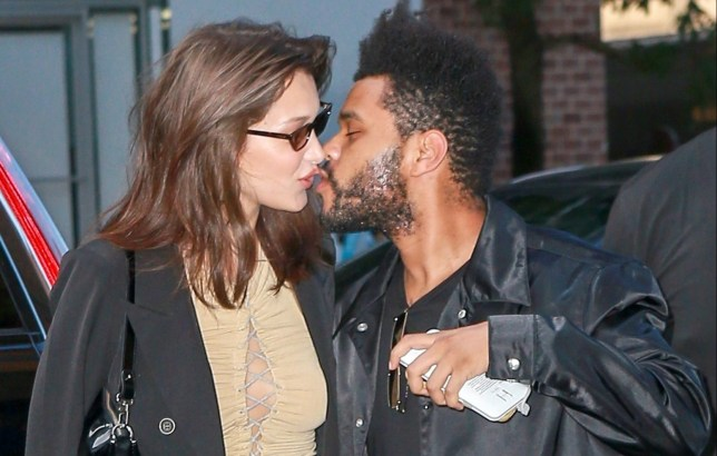 New York, NY - Bella Hadid and the Weeknd spotted having an extreme PDA moment after leaving lunch and returning to their hotel on Bella's birthday. Bella Hadid turned 22. Pictured: Bella Hadid ,The Weeknd BACKGRID USA 9 OCTOBER 2018 USA: +1 310 798 9111 / usasales@backgrid.com UK: +44 208 344 2007 / uksales@backgrid.com *UK Clients - Pictures Containing Children Please Pixelate Face Prior To Publication*