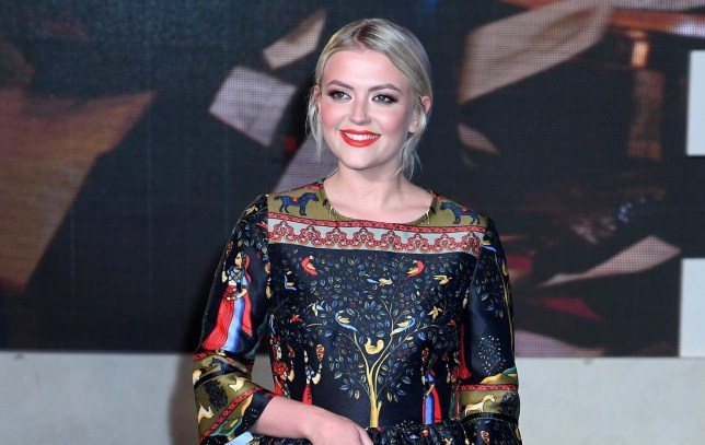 Lucy Fallon at the Mary Poppins Returns premiere in 2018
