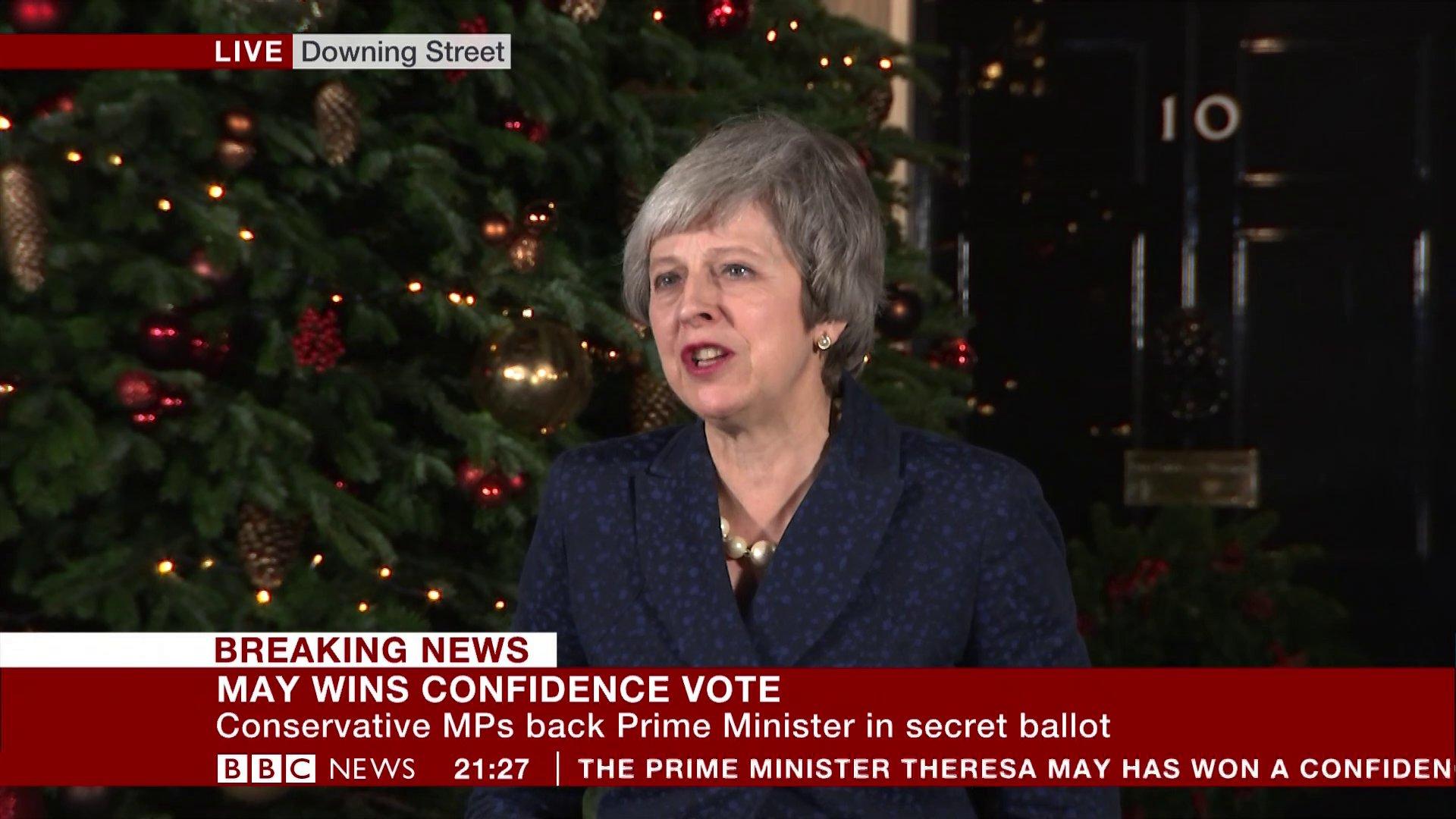 METROGRAB: Convidence vote Theresa May