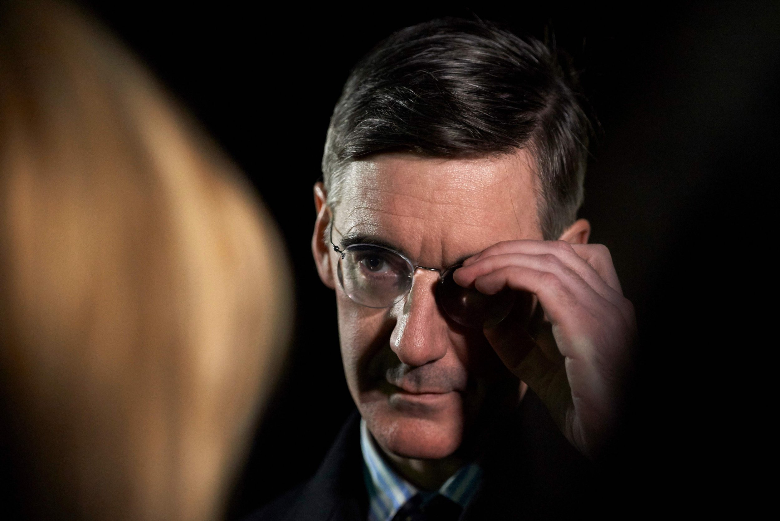 Conservative MP Jacob Rees-Mogg speaks to the media next to Parliament in central London after Britain's Prime Minister Theresa May won a confidence vote on December 12, 2018. (Photo by Niklas HALLE'N / AFP)NIKLAS HALLE'N/AFP/Getty Images