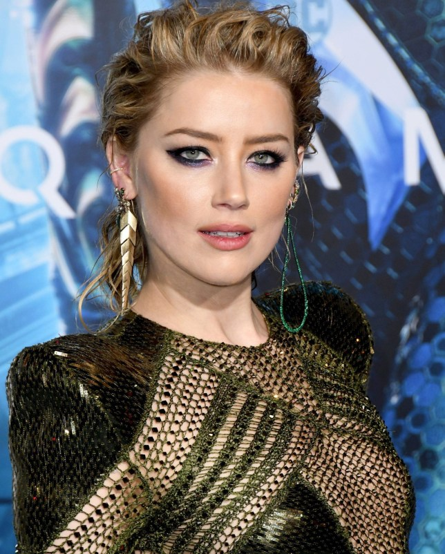 Mandatory Credit: Photo by Birdie Thompson/SIPA/REX (10031934b) Amber Heard 'Aquaman' film premiere, Arrivals, Los Angeles, USA - 12 Dec 2018