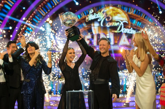 kevin clifton and stacey dooley winning strictly come dancing