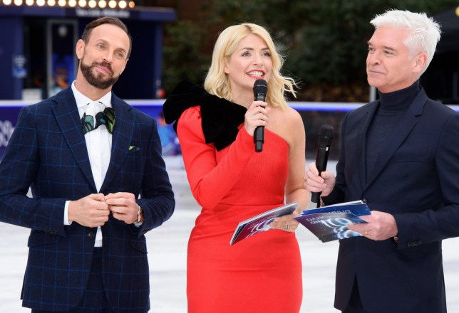 Mandatory Credit: Photo by Jonathan Hordle/REX (10037215n) Jason Gardiner, Holly Willoughby and Phillip Schofield 'Dancing On Ice' TV show photocall, London, UK - 18 Dec 2018