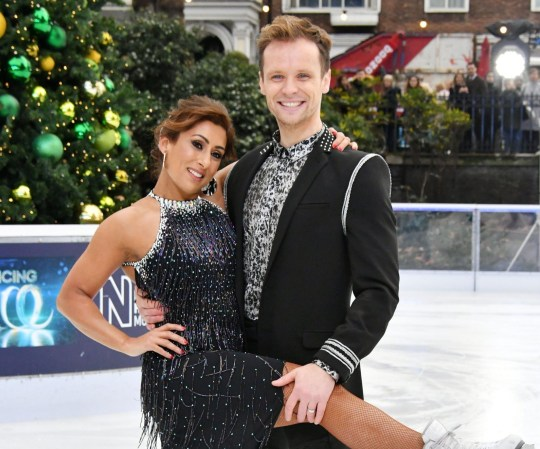 Mandatory Credit: Photo by Nils Jorgensen/REX (10037198bw) Saira Khan, Mark Hanretty 'Dancing On Ice' TV show photocall, London, UK - 18 Dec 2018 Saira Khan, Mark Hanretty at launch to celebrate the new series of the ITV Dancing On Ice skating competition, at Natural History Museum