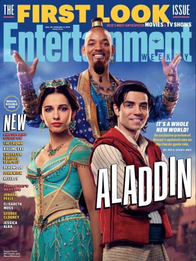 Will Smith As Genie In Aladdin 2019 Is Unveiled Alongside Mena Massoud And Naomi Scott Metro News