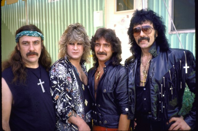 (2L) Ozzy Osbourne and members of Heavy metal rock group, Black Sabbath (Photo by Ann Clifford/DMI/The LIFE Picture Collection/Getty Images)