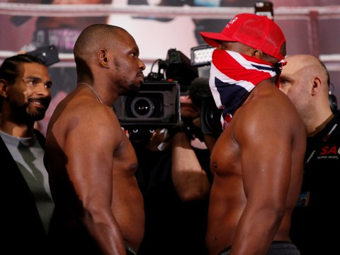 Tempers flare as Dillian Whyte weighs in heavier than Dereck Chisora