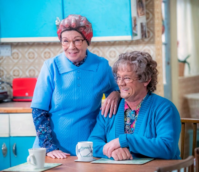 WARNING: Embargoed for publication until 00:00:01 on 11/12/2018 - Programme Name: Mrs Brown's Boys Christmas and New Year Special - TX: n/a - Episode: n/a (No. n/a) - Picture Shows: **STRICTLY EMBARGOED NOT FOR PUBLICATION BEFORE 00:01 HRS ON TUESDAY 11TH DECEMBER 2018** Winnie McGoogan (EILISH O'CARROLL), Mrs Brown (BRENDAN O???CARROLL) - (C) BBC Studios - Photographer: Alan Peebles