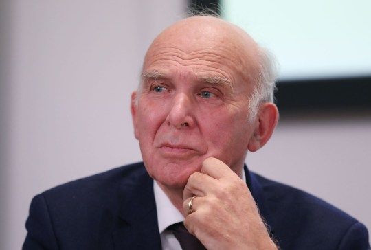 Mandatory Credit: Photo by Isabel Infantes/REX/Shutterstock (10037843k) Vince Cable People's Vote press conference, London, UK - 11 Dec 2018