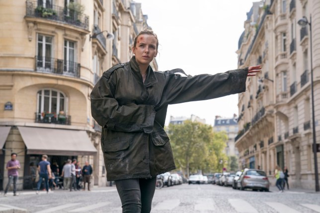 Embargoed to 0001 Monday December 24 For use in UK, Ireland or Benelux countries only Undated BBC handout photo of Villanelle, played by Jodie Comer, in season two of Killing Eve. PRESS ASSOCIATION Photo. Issue date: Monday December 24, 2018. See PA story SHOWBIZ KillingEve. Photo credit should read: Aimee Spinks/BBC America/BBC/PA Wire NOTE TO EDITORS: Not for use more than 21 days after issue. You may use this picture without charge only for the purpose of publicising or reporting on current BBC programming, personnel or other BBC output or activity within 21 days of issue. Any use after that time MUST be cleared through BBC Picture Publicity. Please credit the image to the BBC and any named photographer or independent programme maker, as described in the caption.