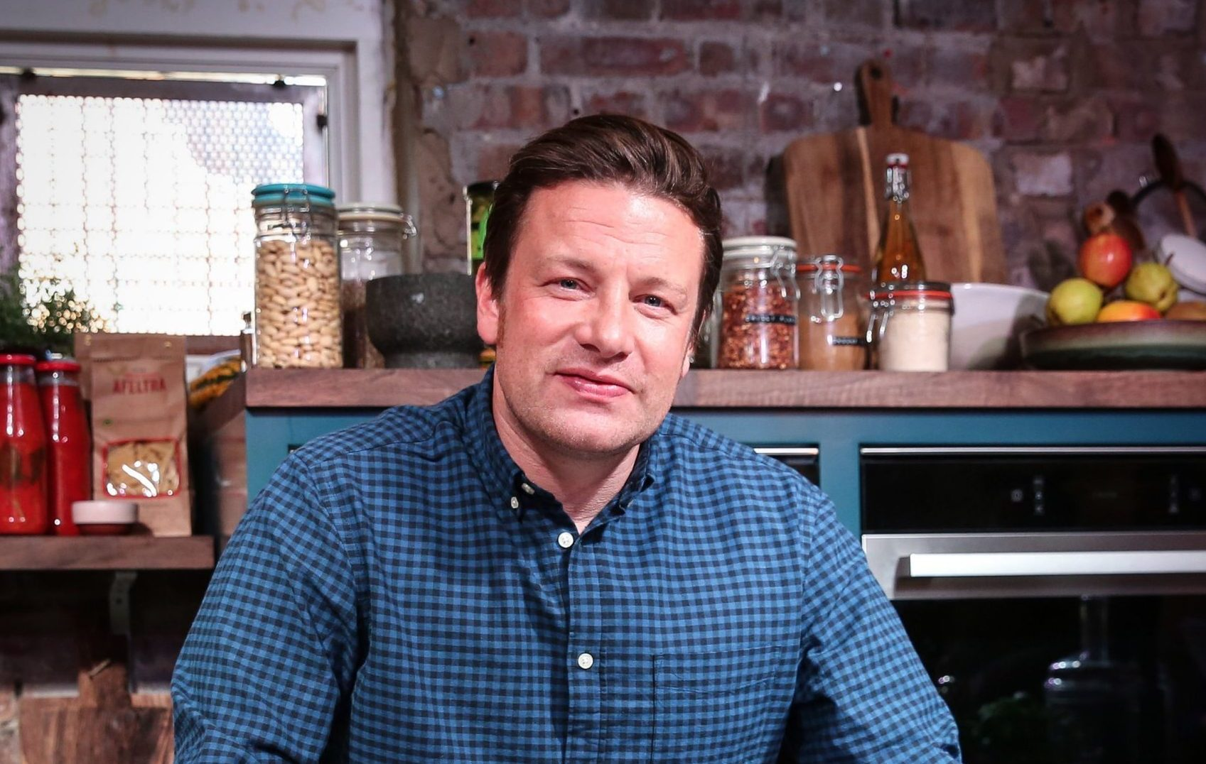 EDITORIAL USE ONLY Jamie Oliver at the opening of an unusual cafE in East London, where diners will be able to enjoy a tasting menu of dishes inspired by the most commonly wasted ingredients in the UK.