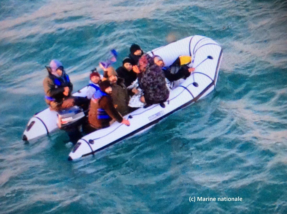 Migrant boats Credit: Marine Nationale