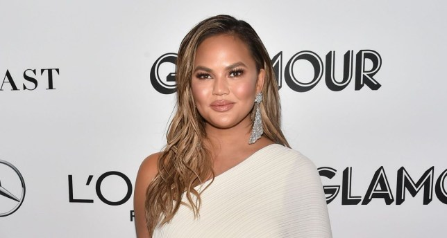 Mandatory Credit: Photo by Andrew H. Walker/REX/Shutterstock (9975649ap) Chrissy Teigen Glamour's 28th annual Women of the Year Awards, Arrivals, New York, USA - 12 Nov 2018 Wearing Solace London