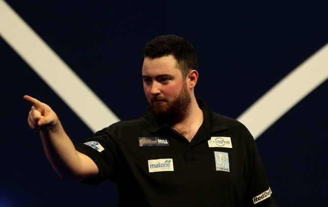 Luke Humphries celebrates winning his match during day twelve of the William Hill World Darts Championships at Alexandra Palace, London. PRESS ASSOCIATION Photo. Picture date: Thursday December 27, 2018. Photo credit should read: Steven Paston/PA Wire