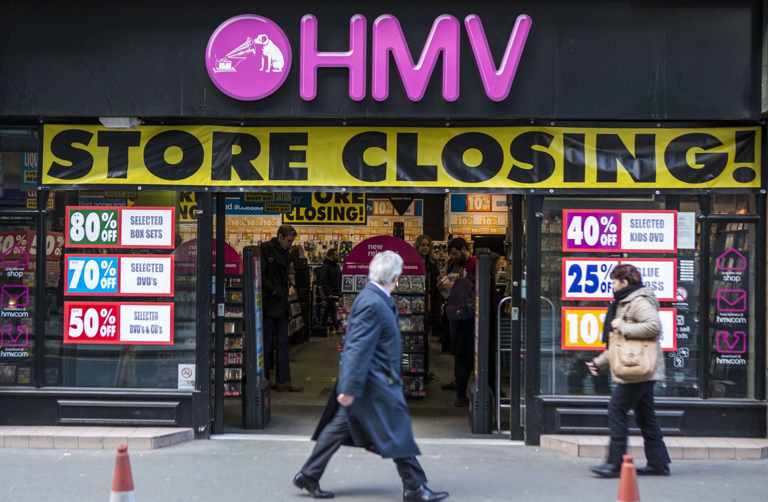 HMV on brink of collapse in another blow for UK high street
