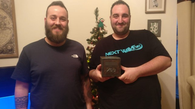 Christmas Pranks.Man Pranks His Brother By Putting His Christmas Gift In A F