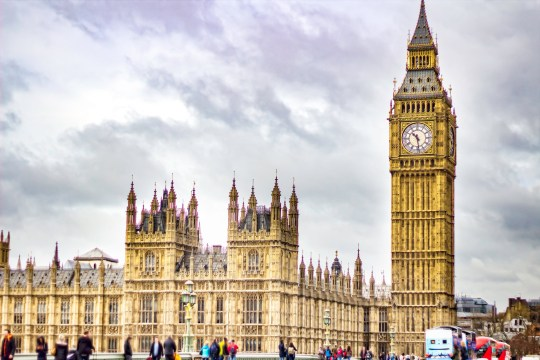 Britain set to SCRAP changing of the clocks after EU rule change ? despite Brexit High Angle View Of Westminster Bridge By Big Ben Against Sky. London, United Kingdom, England